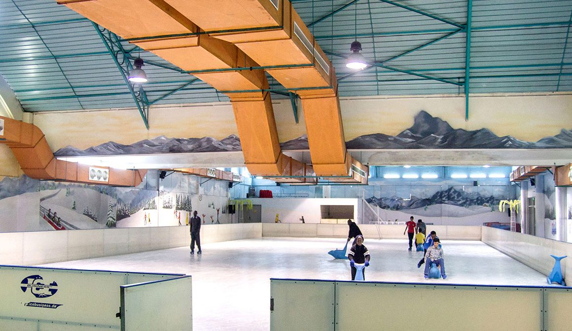 ice skating at the Panari Sky centre